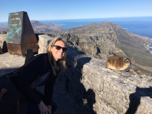 Jo Hannah with Hyrax